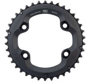 Shimano Deore FC-M6000 36T Chainring - 10 Speed, 96mm BCD, for 36-26T - Google Chrome